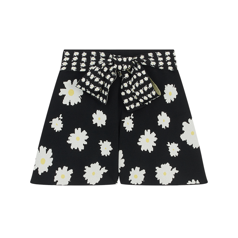 Short in jacquard margherite - Gonne e shorts - MAJE